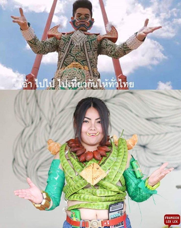 15 Foto Parodi Outfit Artis ini Terbuat dari Makanan Lho!