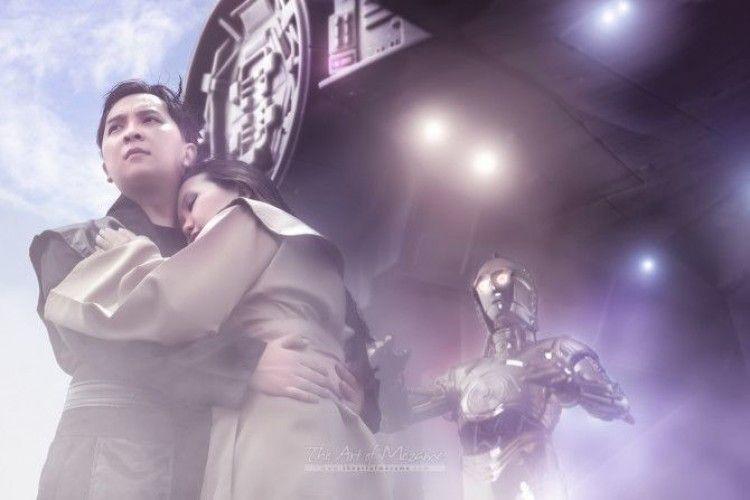 Niat Banget, Pasangan Ini Foto Prewedding Bertema Star Wars