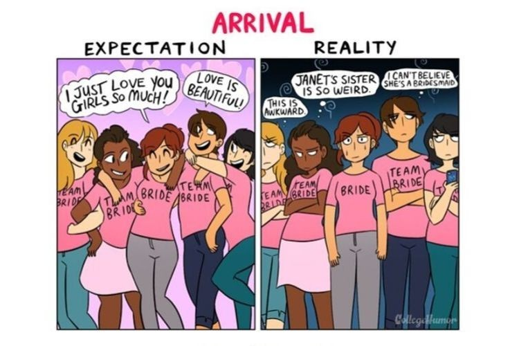 5 Ilustrasi Ekspektasi vs Realitas Saat Mengadakan Pesta Lajang