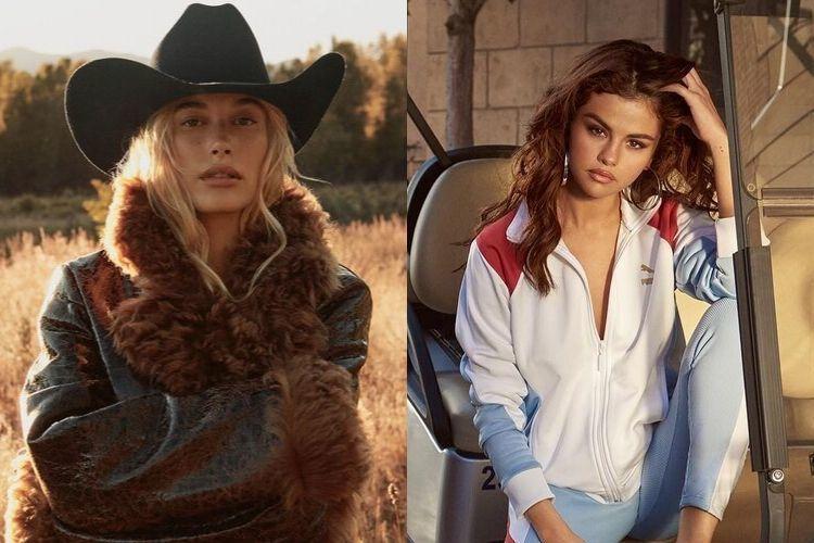 Intip 7 Perbandingan Potret Hailey Baldwin dan Selena Gomez