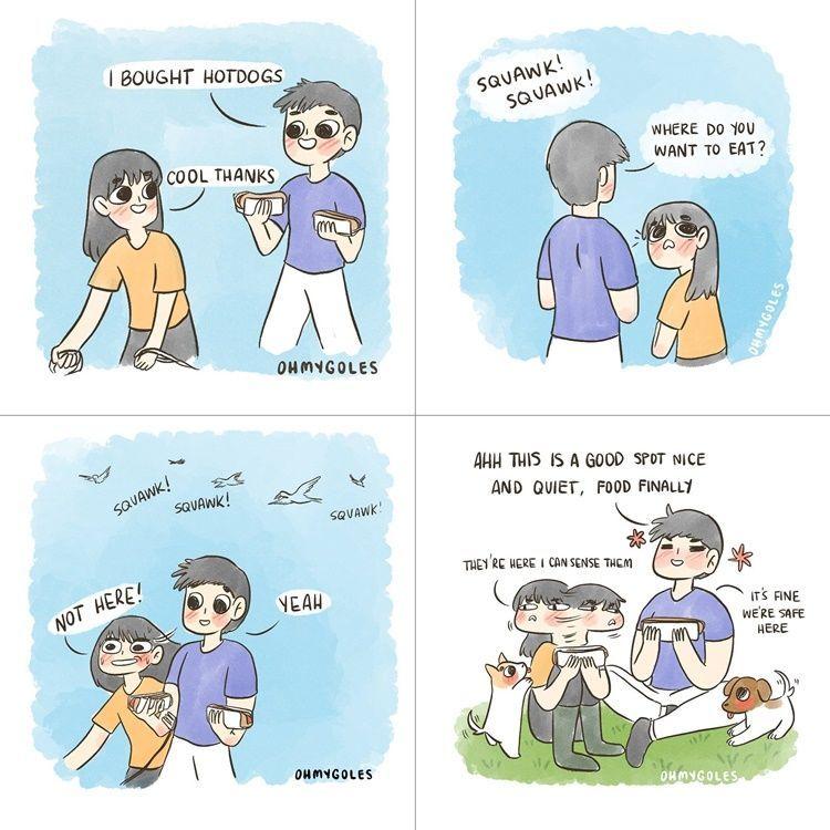 7 Komik Strip Tingkah Konyol Kita Bareng Pacar, Bikin Geleng Kepala!