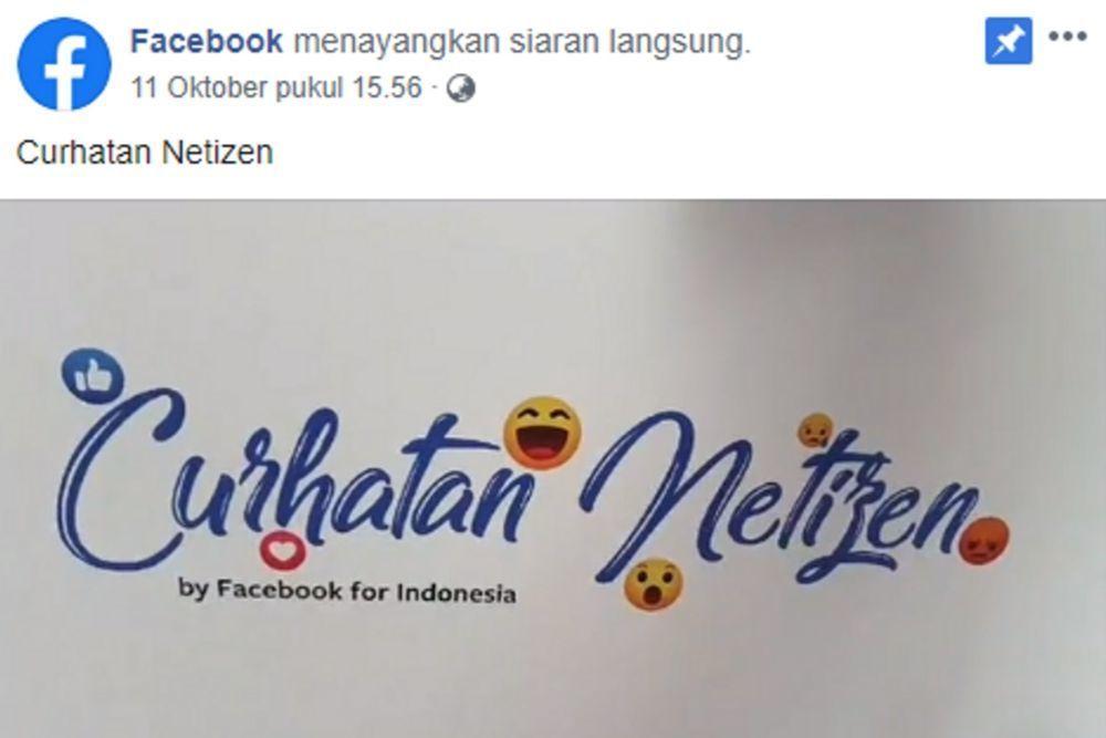 Sharing Pengalaman, Facebook Luncurkan Program Curhatan Netizen
