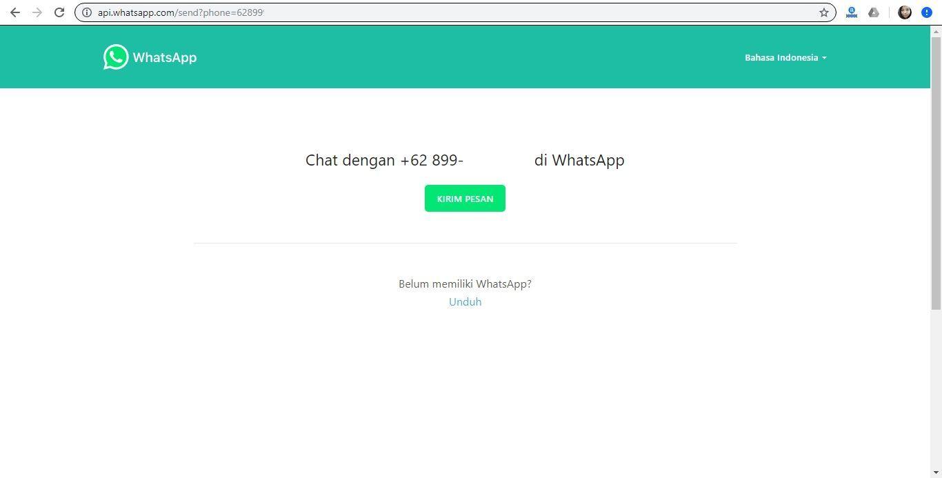 Nggak Usah Simpan Nomor Kontak Untuk kirim Pesan WhatsApp, Ini Caranya