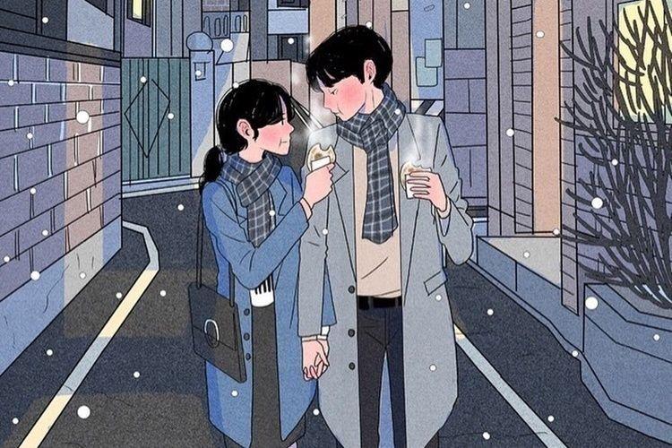 Sering Manja, 11 Ilustrasi Pasangan Baru Menikah Ini Bikin Gemas
