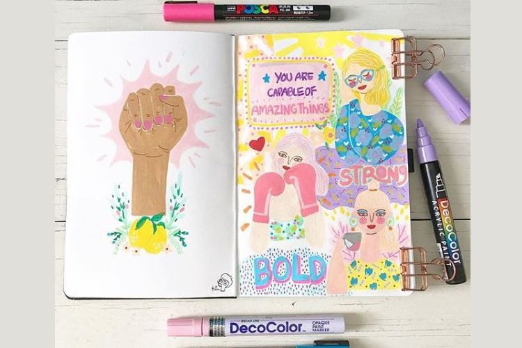 Kumpulan Ilustrasi Mencintai Diri Sendiri a la Dita W Yolashasanti