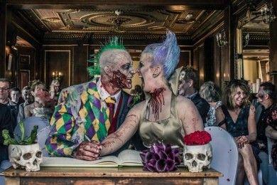 8 Foto Pernikahan Bertema Zombie Ini Bikin Kamu Bergidik Ngeri