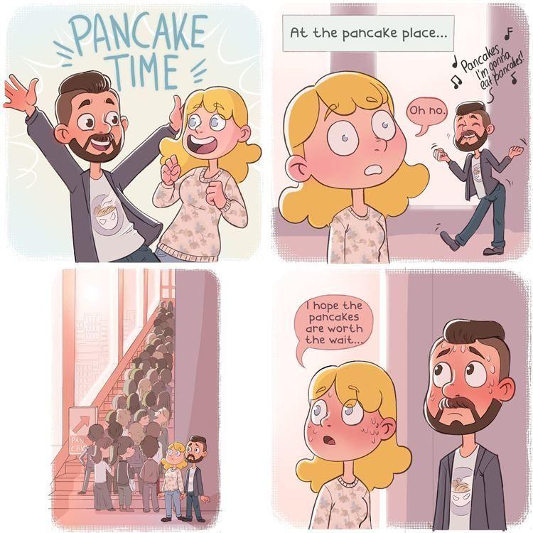 Gemas! 7 Ilustrasi Ini Gambarkan Hebohnya Liburan Bareng Pasangan