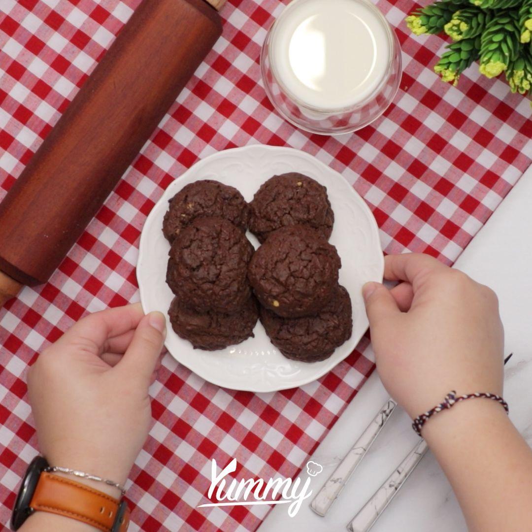 Pas Buat Camilan, Ini Resep Double Chocolate Cookies Rumahan