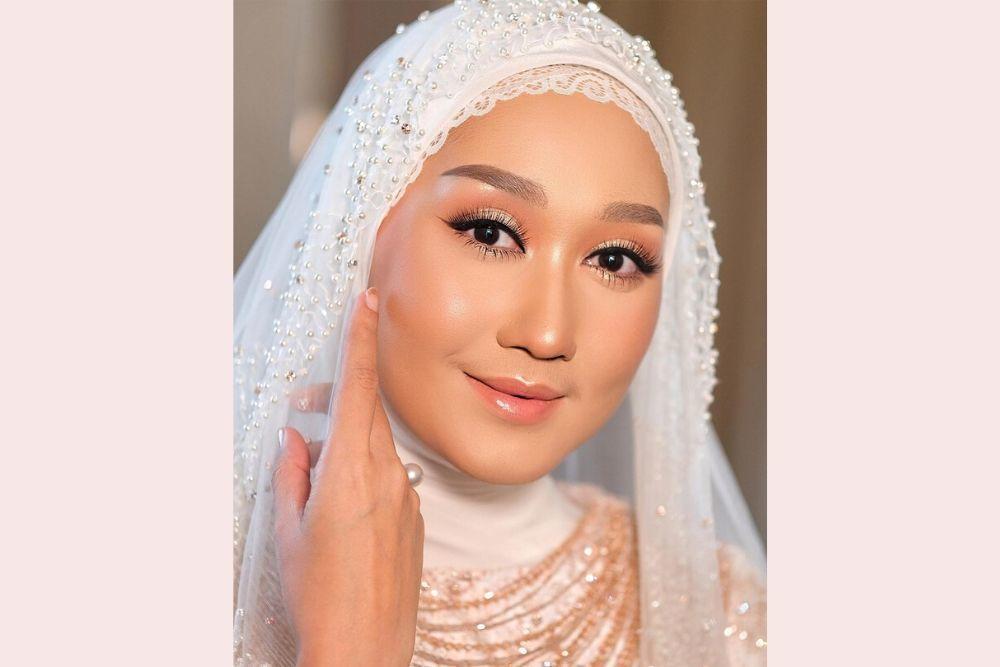 Flawless dan Memukau, Begini Makeup Dian Pelangi di Hari Pernikahannya