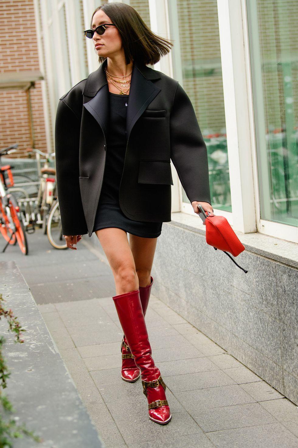 Inspirasi OOTD pakai Boots Tinggi