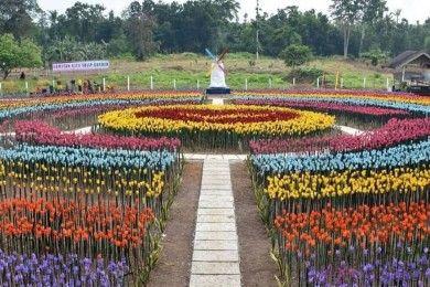 Kreatif, Taman Tulip Filipina ini Dibuat dari Sampah Plastik