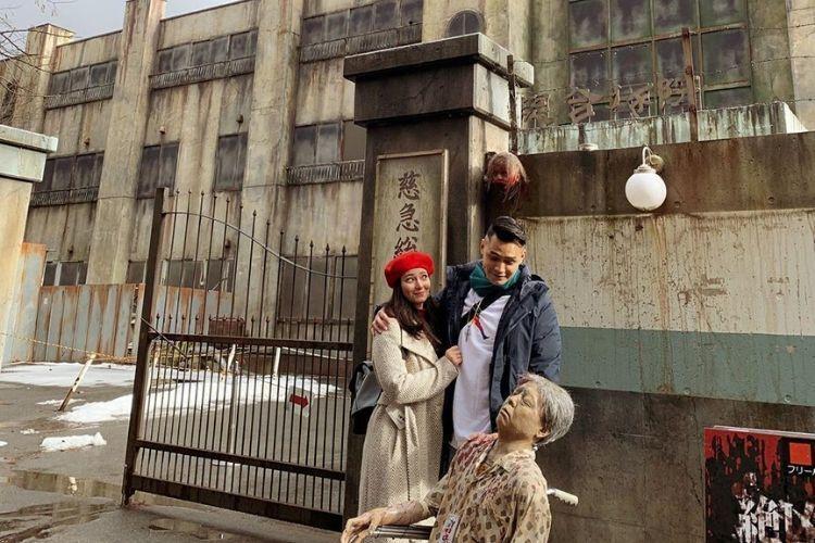 Kunjungi Wahana Berhantu, Ini Keseruan Asmirandah & Jonas di Jepang