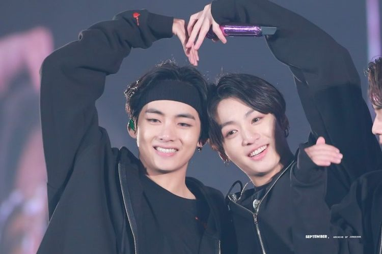 Bikin Jatuh Hati, Ini 10 Potret Persahabatan V dan Jungkook 'BTS'