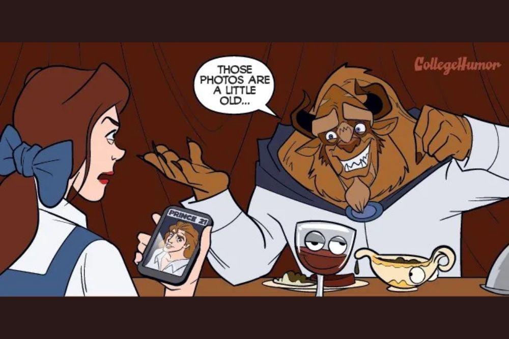 4 Ilustrasi Ini Gambarkan Jika Princess Disney Pakai Online Dating