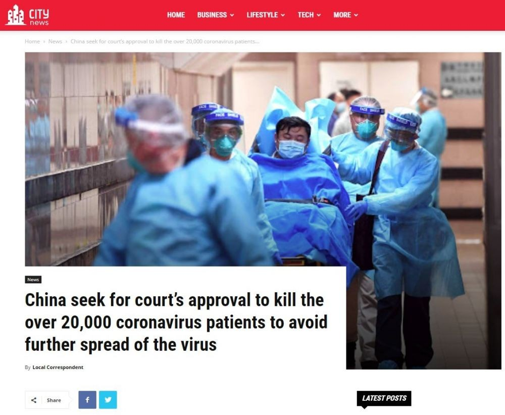 Jangan Telan Mentah-Mentah, Ini 5 Informasi Hoaks Soal Virus Corona