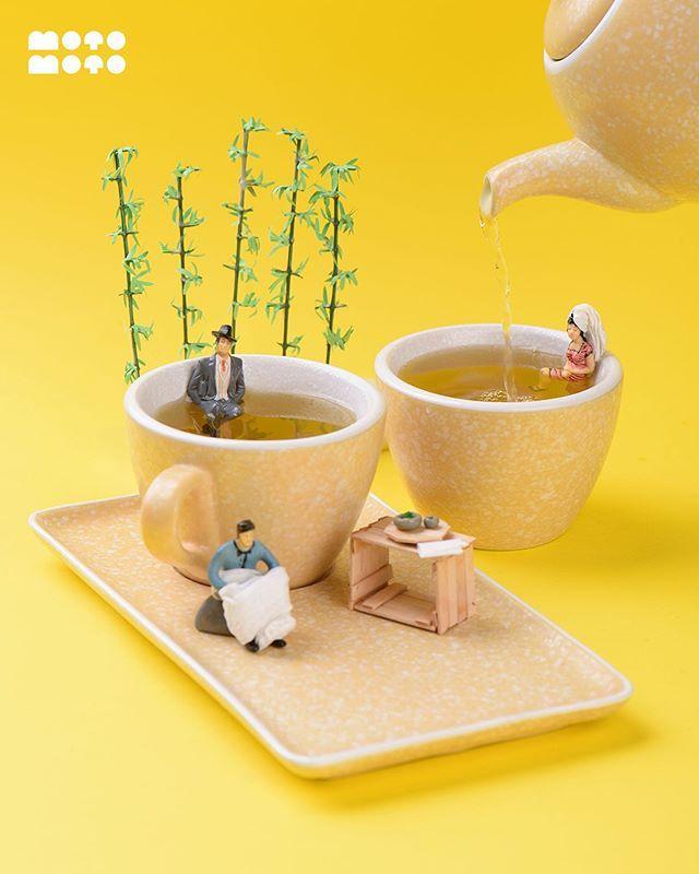 Sajian Makanan Unik dengan Figur Miniatur