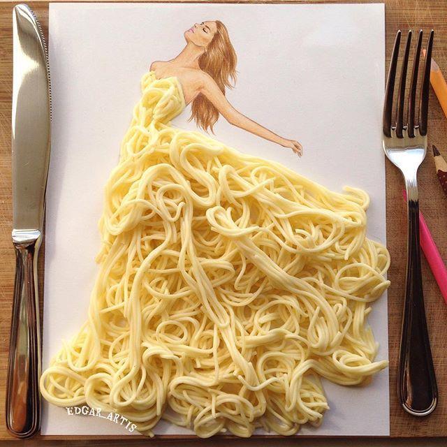 Makanan Jadi Sketsa Desain Baju? Bisa!