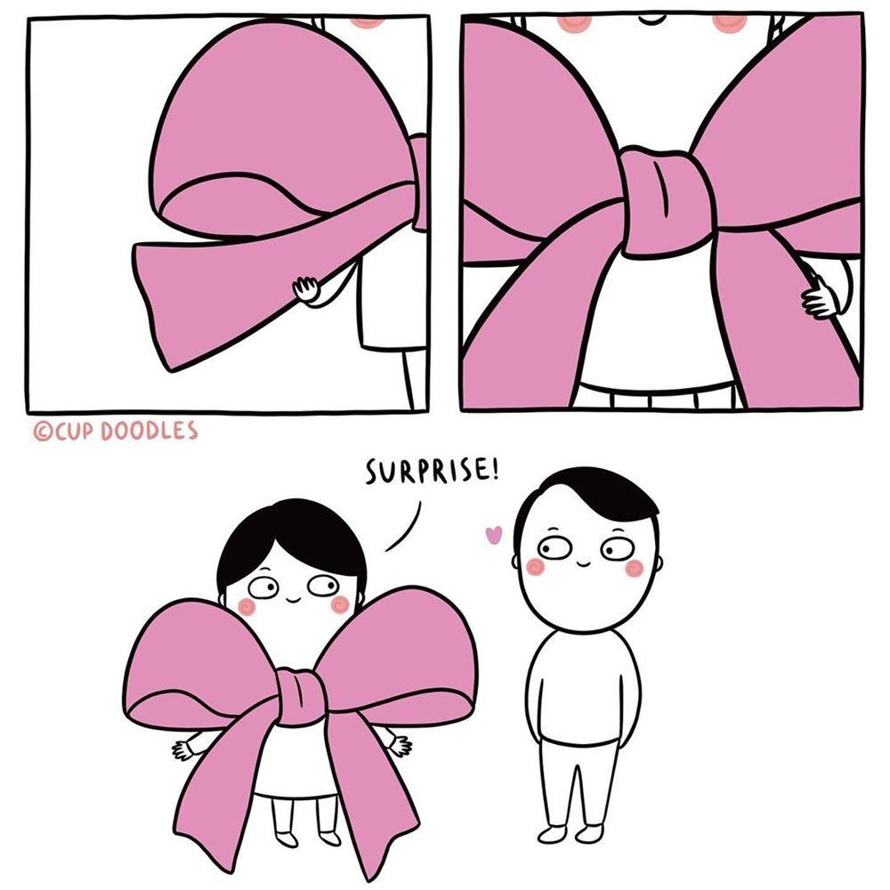 Gemas! 9 Ilustrasi Lucu Rasanya Punya Pacar Romantis Tapi Humoris