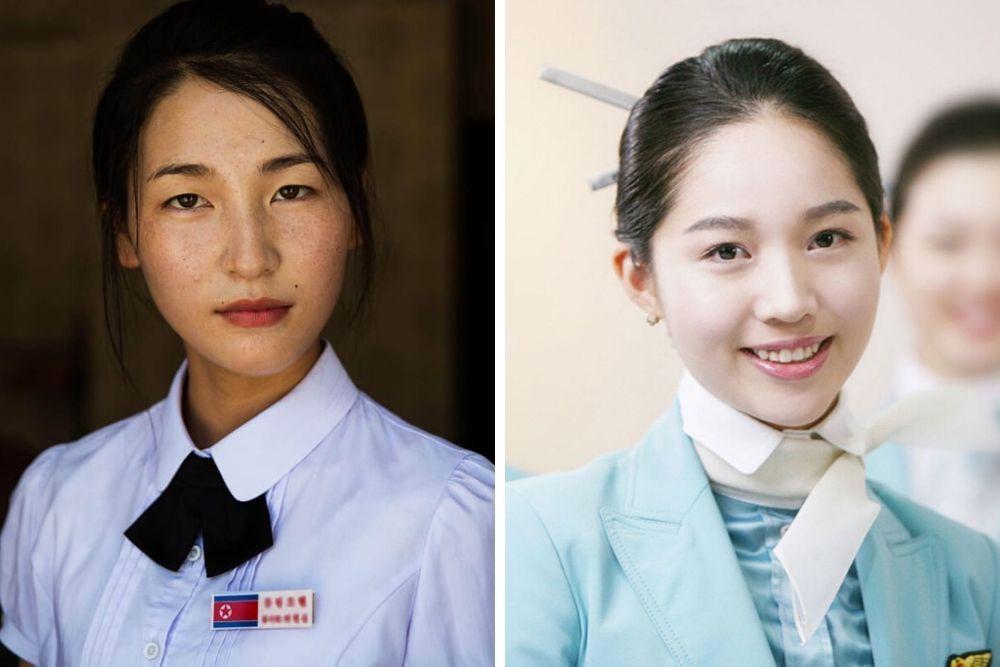 Perbandingan Gaya Makeup Perempuan Korea Utara vs Korea Selatan