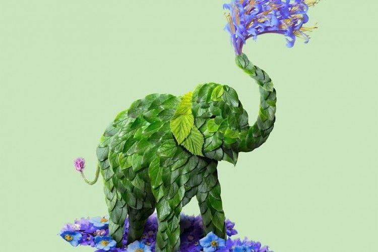 Kreatif! 7 Hewan Menggemaskan Ini Dirangkai dari Bunga dan Dedaunan