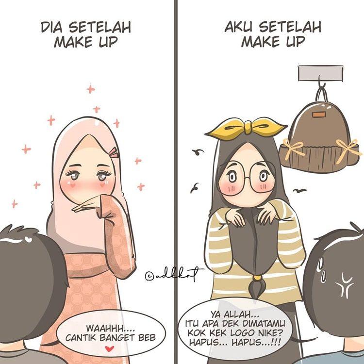 9 Ilustrasi Lucu Kehidupan Perempuan Muslim & Suaminya Setelah Menikah