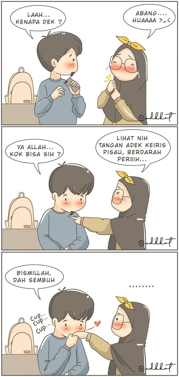 9 Ilustrasi Lucu Kehidupan Perempuan Muslim & Suaminya