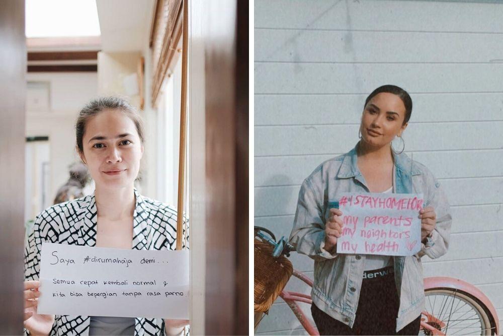 Begini Perbandingan Gaya Seleb Indonesia vs Hollywood Ketika WFH
