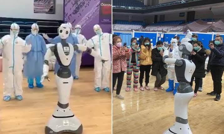 Rawat Pasien Corona, Rumah Sakit di Tiongkok Ini Gunakan Robot