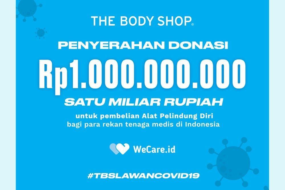 Bantu Tenaga Medis Melawan COVID-19, The Body Shop Kirimkan Bantuan