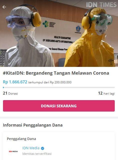 Bantu Tenaga Medis Lewat #KitaIDN: Bergandeng Tangan Melawan Corona