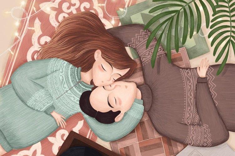 So Cute! 12 Ilustrasi Ini Gambarkan Si Dia Pasangan Ideal