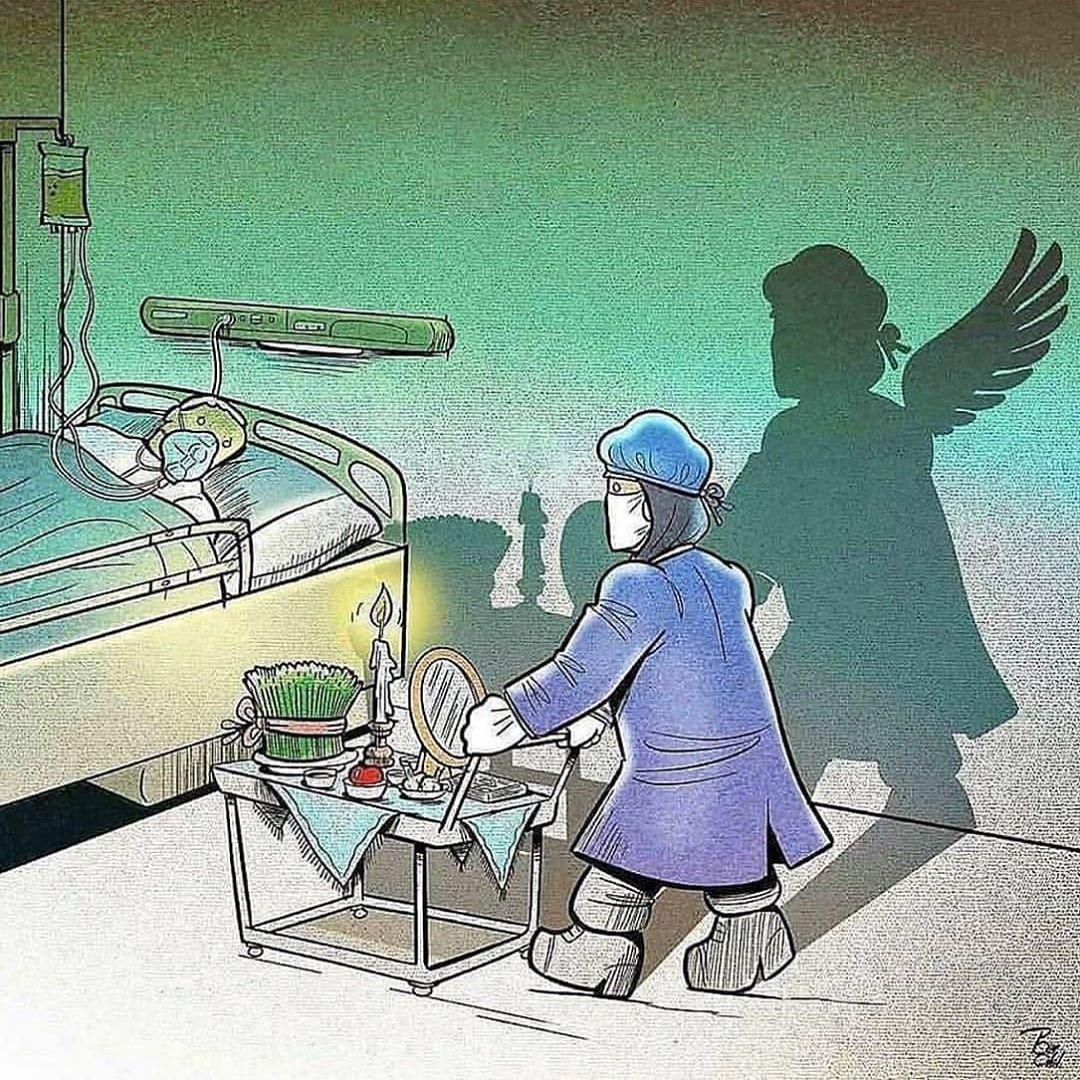 10 Ilustrasi Mengharukan Profesi di Garda Terdepan yang Melawan Corona