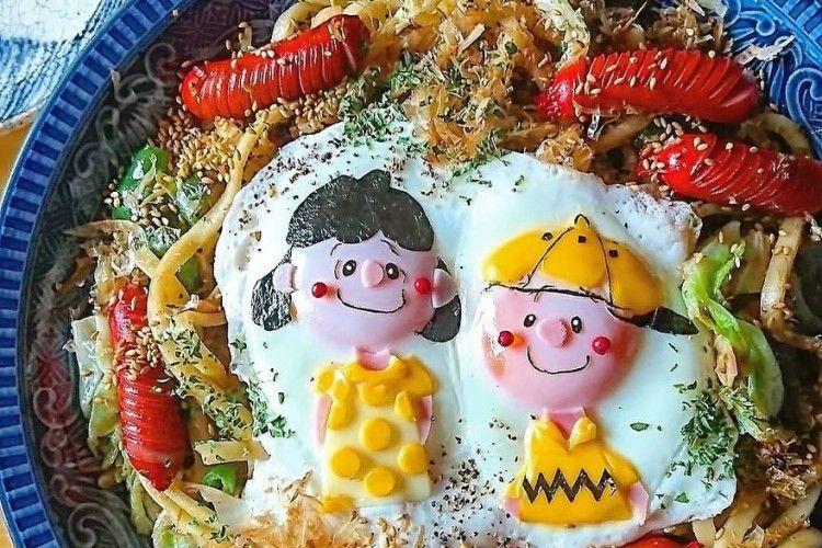 8 Karakter Egg Art yang Terbuat dari Telur Ceplok Ini Menggemaskan!