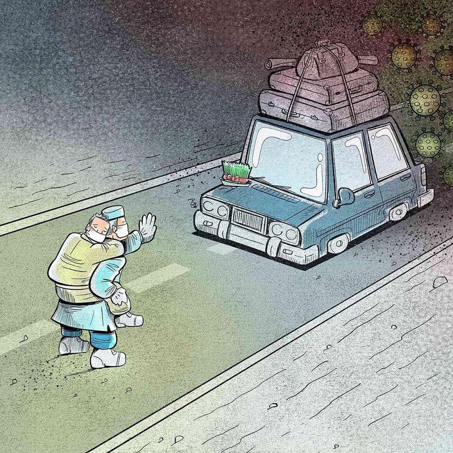 Sedih Banget, 9 Ilustrasi Pekerja Medis ini Bikin Hati Meleleh