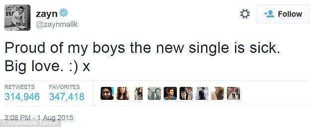 Akan Reuni? Anggota One Direction Serempak Follow Zayn Malik Lagi