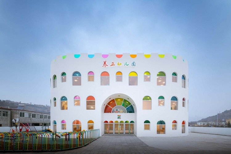 Gemas dan Penuh Warna, Gedung TK di Tiongkok Ini Bisa Jadi Inspirasi