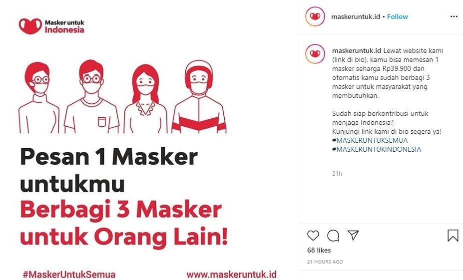 Ayo Dukung Masker Untuk Indonesia yang Turut Membantu UMKM Lokal