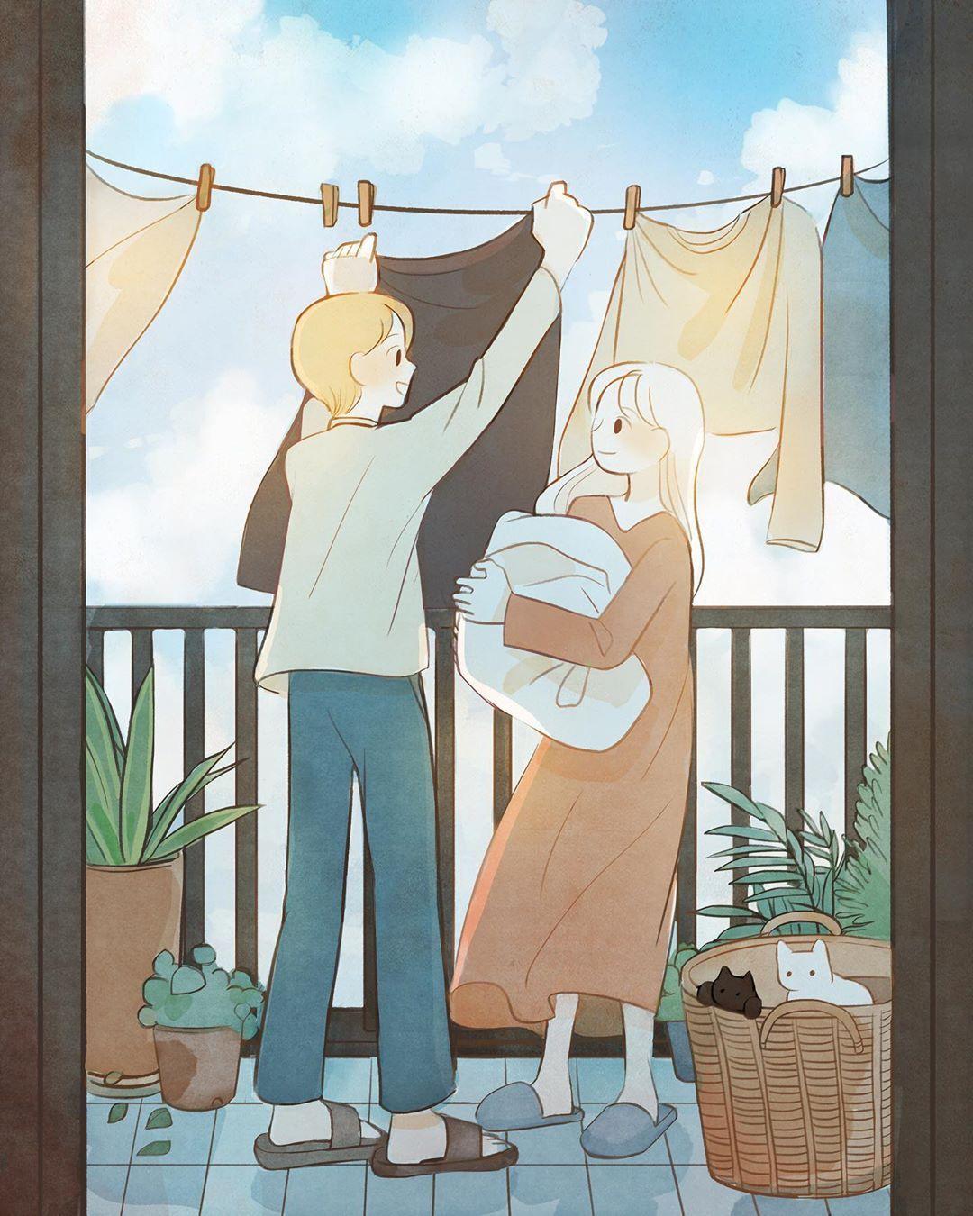 Ilustrasi Ini Gambarkan Kegiatan Sederhana yang Merekatkan Hubungan