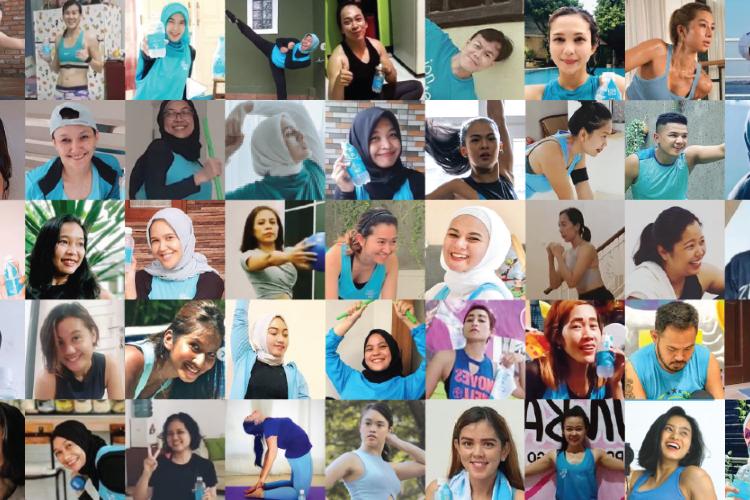 Tetap Fit #DiRumahAja, ION WATER Ajak Masyarakat Olahraga Virtual
