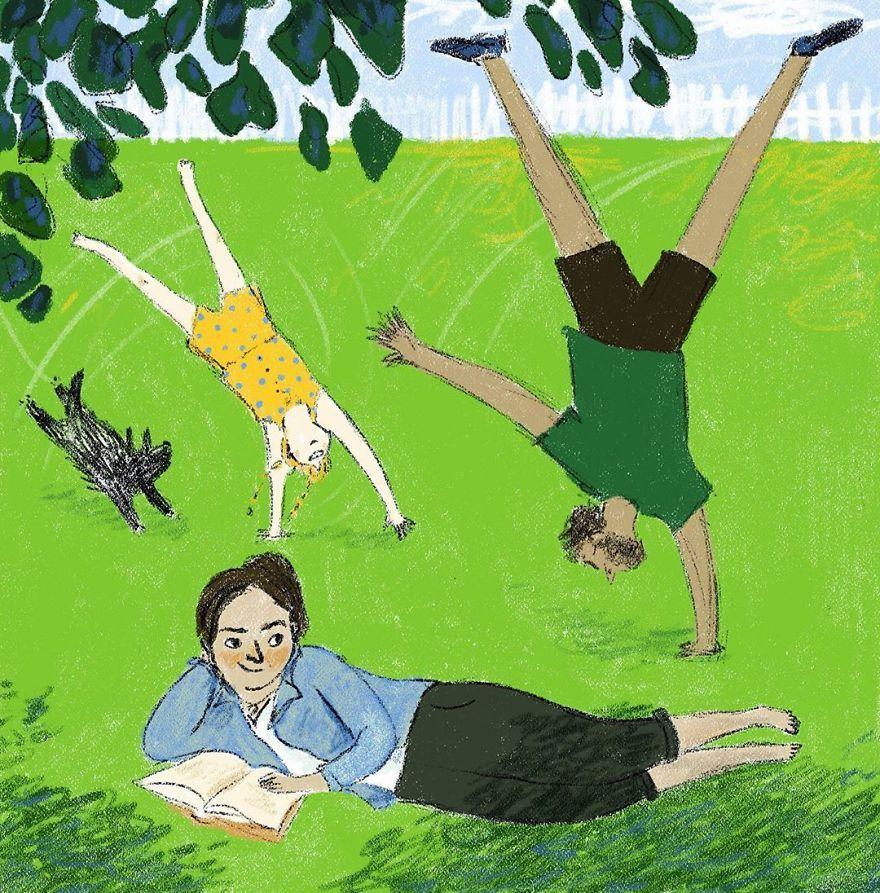 Ilustrasi Ini Menggambarkan 6 Momen Kebahagiaan Ketika #dirumahaja