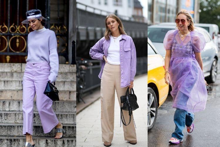Tips Padu-padan Outfit Warna Ungu Lilac