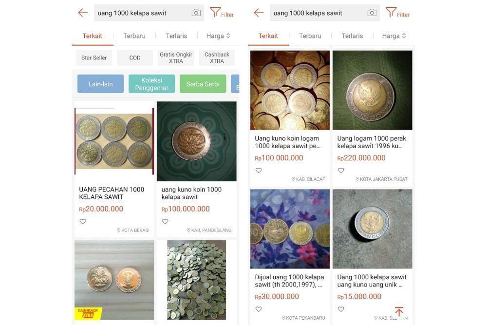 Koin Rp1.000 Kelapa Sawit Dijual Ratusan Juta, Berapa Harga Aslinya?