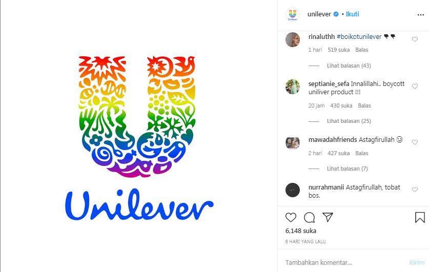 Dukung LGBTQ+, Instagram Unilever Diserbu Netizen Indonesia