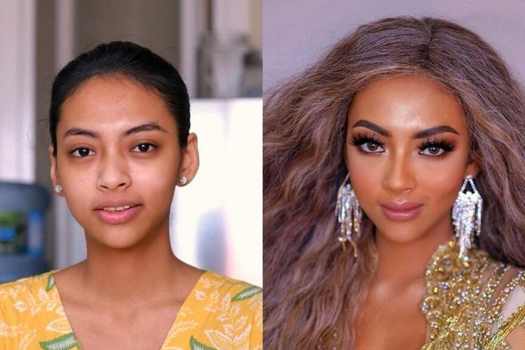 Keren Abis! MUA Ini Bisa Sulap Wajah Seseorang Jadi Mirip Beyonce