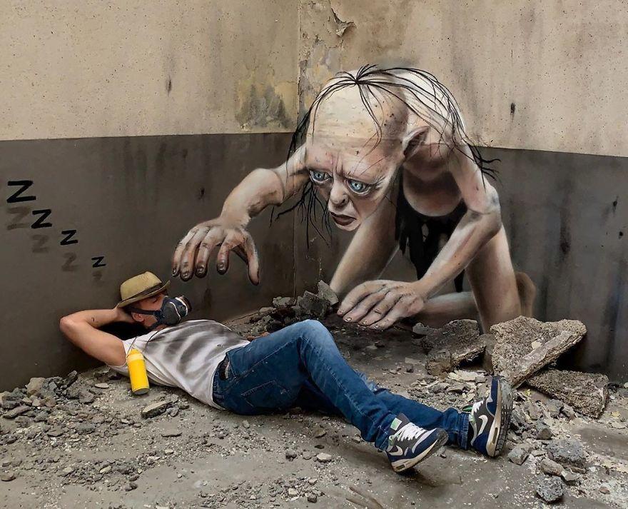 8 Grafiti ini Sukses Bikin Kaget Setengah Mati