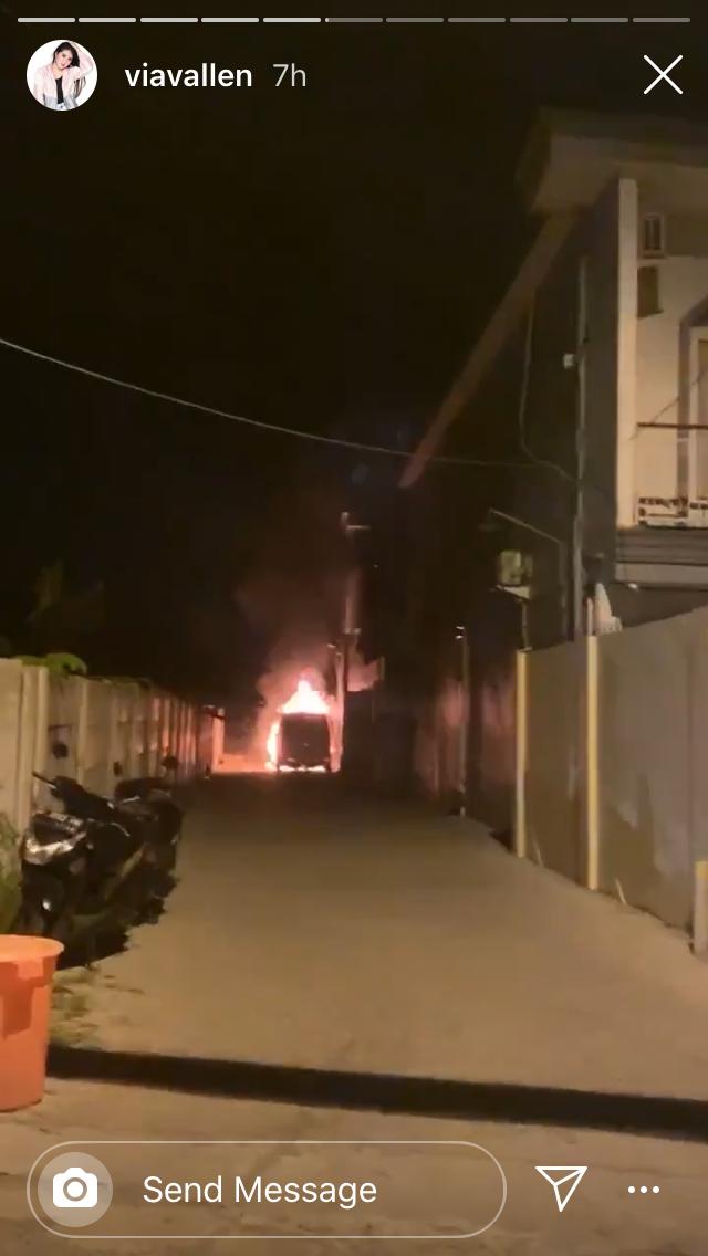 Mobil Via Vallen Dibakar Orang, Akhirnya Pelaku Tertangkap