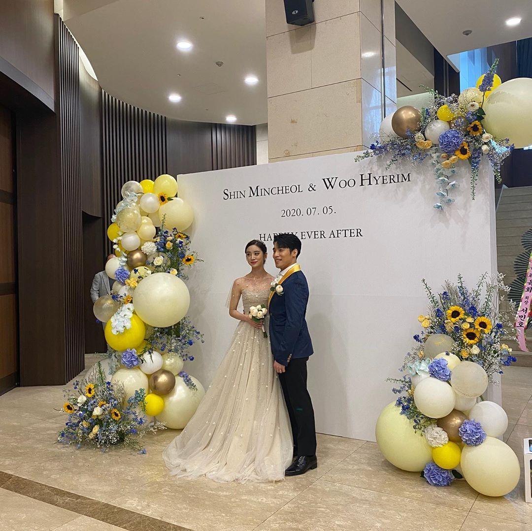 8 Foto Pernikahan Hyerim Eks 'Wonder Girls' dan Shin Min Cheol
