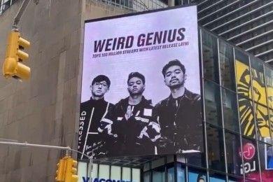 Capai 100 Juta Streaming, Weird Genius Terpampang Times Square NY