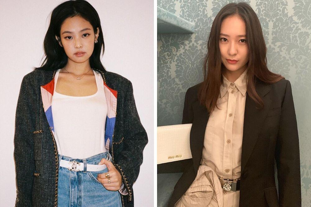 Sama-sama Mantan Pacar Kai EXO, Intip Adu Riasan Jennie vs Krystal!