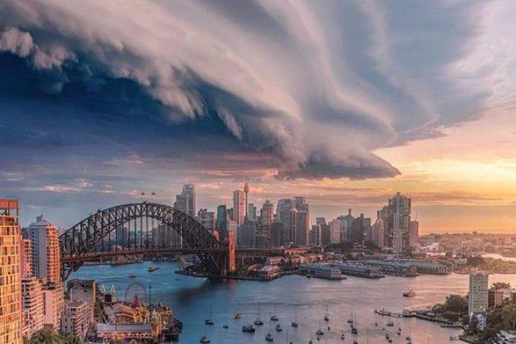 Dramatis, Inilah Foto Penampakan Langit Sebelum Badai Datang